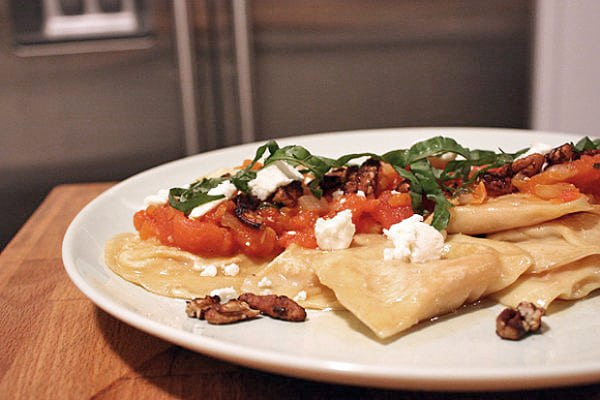 Roasted Butternut Squash Ravioli