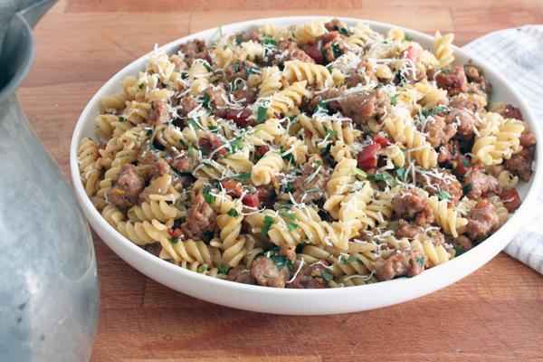 Sweet Sausage, Pancetta, and Fennel Pasta