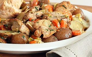 White Wine-Braised Chicken and Potatoes