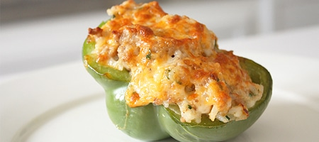 Simple Pork and Sausage Stuffed Peppers