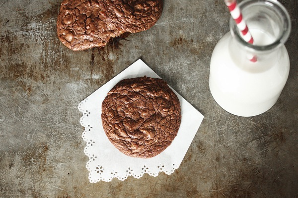 Double Chocolate Toffee Cookies
