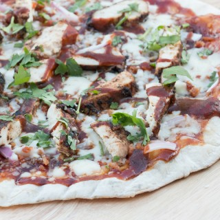 BBQ Jerk Chicken Pizza #GrillWithGrace
