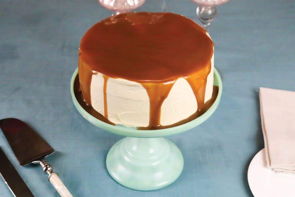 super moist gingerbread layer cake with caramel buttercream and a ...
