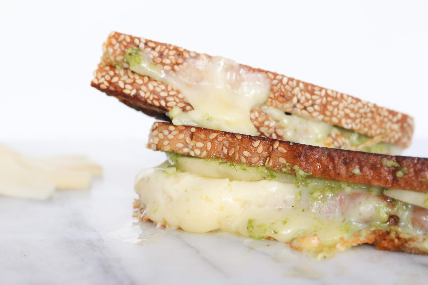 Havarti, Pesto & Pear Grilled Cheese Sandwich